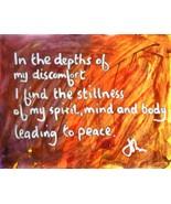 Meditation Art, Wisdom Art, Yoga Art - Discomfort  -  Quality A4 Print - $23.00