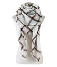 Soft Plaid Blanket Scarf - £9.08 GBP