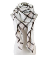 Soft Plaid Blanket Scarf - $11.99