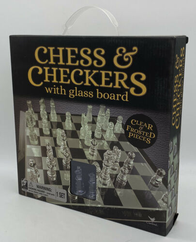Cardinal Classic Glass Chess and Checkers Set with Chess Board - $23.75