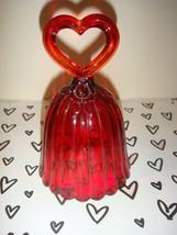 Fenton Ruby Heart Handle Bell - $13.99