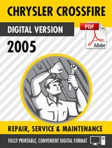 2005 Chrysler Crossfire Factory Repair Service Manual - $9.90