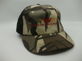 Xi Putting The Odds In Your Favor Camo Hat Vintage Snapback Trucker Cap Made USA - $22.57