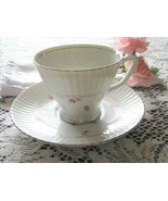 Trend China - PROPOSAL - Japan - Cup & Saucer - Pink Roses Silver Trim -... - $9.74