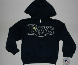 MLB Tampa Bay Rays Long Sleeve Zip Up Hoodie Hooded Sweatshirt Kids Smal... - $29.99