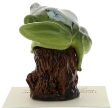 Hagen-Renaker Miniature Ceramic Frog Figurine Tree Frog on Stump image 4