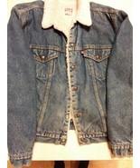 Vintage Levis Red Tab San Francisco Sherpa Snap 48L men's denim Jacket U... - $98.95