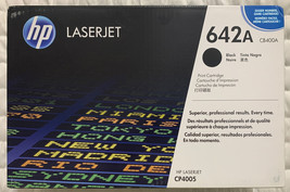 HP 642A Black Toner Cartridge CB400A LaserJet CP4005 Genuine Sealed Retail Box - $98.98