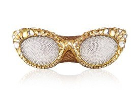 $4995 NIB Judith Leiber Couture Eyeglasses Minaudiere Clutch In Gold - $57.265,77 MXN