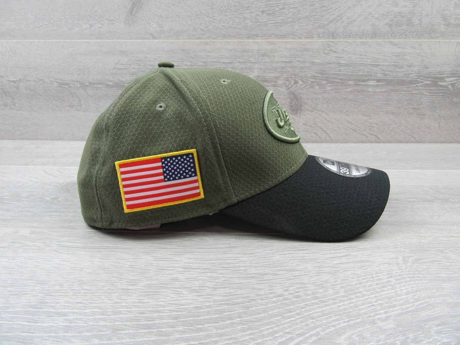 New York Jets New Era Salute to Service Large XL Fitted Hat 39THIRTY