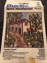 Bucilla 4284 Mini Picture Quick Needlepoint Country Scene  - $23.30