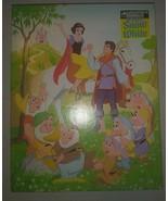 Vintage Walt Disney Snow White And The Seven Dwarfs 200 Piece Puzzle COM... - $9.89