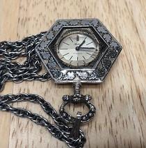 Vintage Belair 17J Art Deco Hand-Winding Necklace Pendant Pocket Watch H... - $26.03