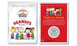 Peanuts Original Gang w/ Frankin OFFICIAL JFK Half Dollar Coin in PREMIU... - $10.35