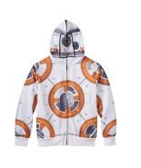 Star Wars Boys 6-7 Graphic Sweatshirt BB-8 Zip up Front Mask Hoodie Long... - $16.48