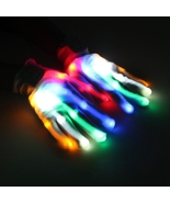 A Pair LED Color Changing Lighting Gloves Flashing Skeleton Halloween Stage - $10.99