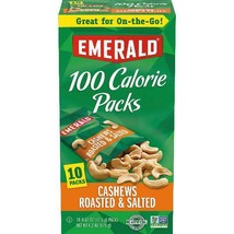 Emerald Nuts Cashews Roasted And Salted, 100 Calorie Packs, 10 Ct - $15.83