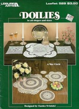 Doilies in All Shapes & Sizes Leisure Arts 529 Thread Crochet 1987 - $4.45