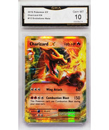 GRADED 10! HOT!  CHARIZARD EX 12/108 ULTRA RARE HOLO POKEMON XY EVOLUTIONS - $399.95
