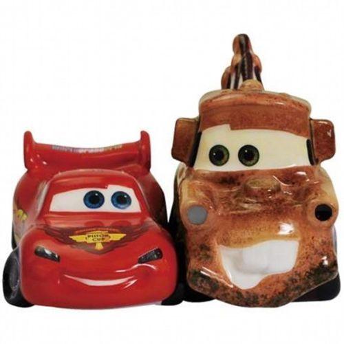 Disney's Cars Lightning McQueen & Mater Ceramic Salt and Pepper Shakers Set NEW
