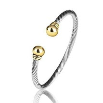 Jewelry European American fashion Vintage Cables Rhodium 2 Tone plated b... - $54.94