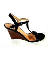 Ivanka Trump Black Strappy Wedge Heel Sandals Shoes Women's 7 1/2 M (SW2) - $63.99