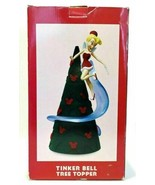 "Walt Disney Tinker Bell Tree Topper Christmas Happy Holidays 12"" Lights Up - $89.99"