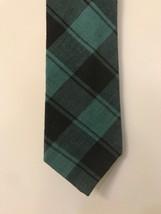 "Gap Men's 100% Cotton Tie Tartan Plaid 4""x 60"" Green Black - $9.89"