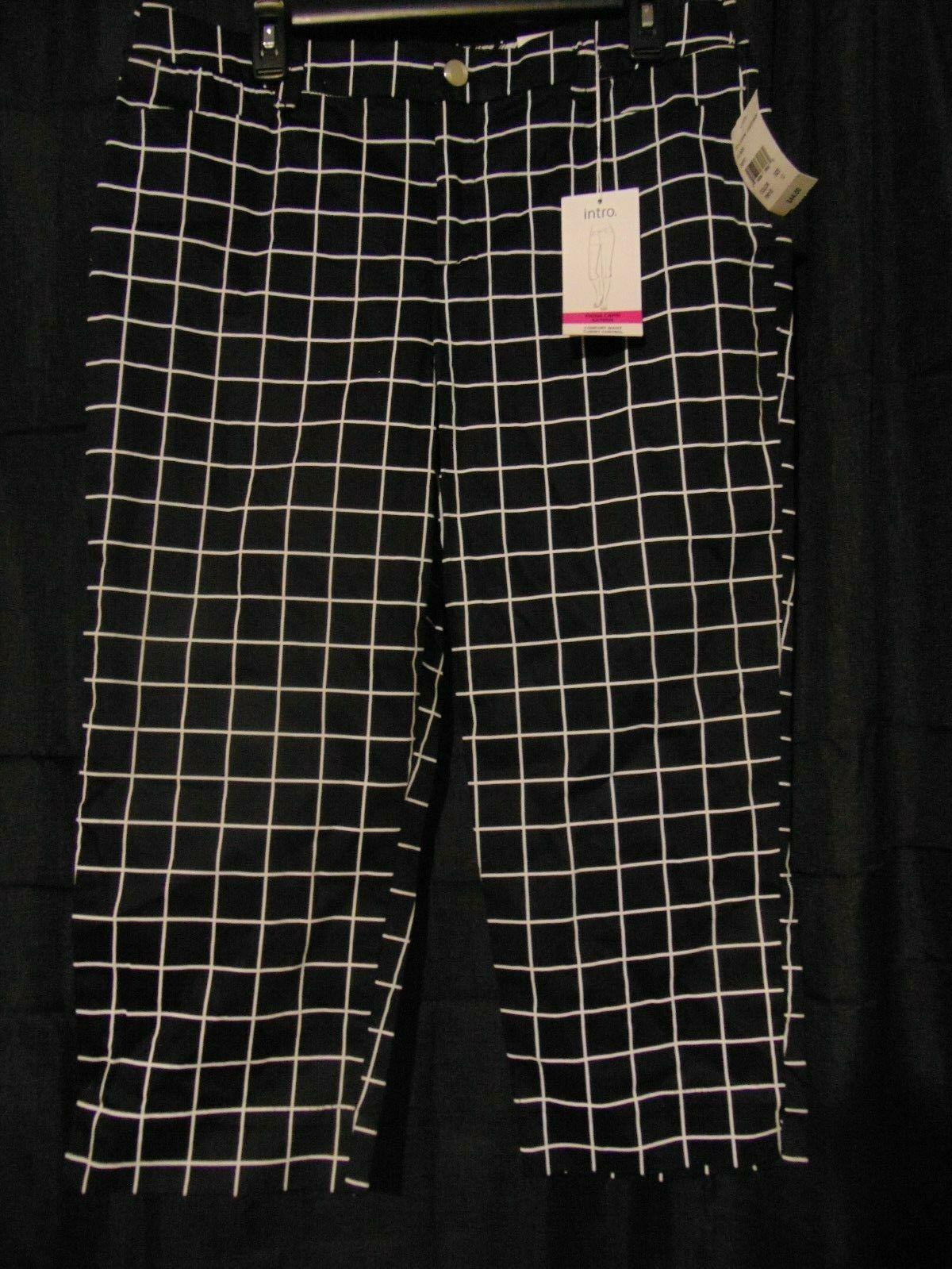 0b2c4cad3c450b 57. 57. Previous. Intro Love The Fit Fiona Comfort Waist Black Capri  Cropped Pants Size 12
