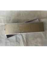 Bergdorf Goodman box for jewelry rectangle medium empty silver - $14.84
