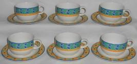 1996 Set (6) Royal Doulton RIO PATTERN Cups/Saucers - $23.75