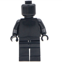 Black Limited Supplies Blank Unprinted Pure Color Lego Toys Minifigure - $3.25