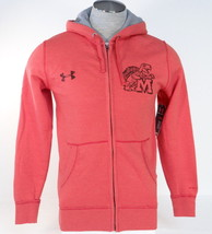 Under Armour Storm University of Maryland Coral Red Zip Front Hoodie Mens NWT - $74.99