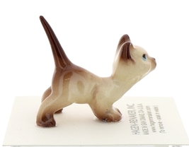 Hagen-Renaker Miniature Cat Figurine Siamese Kitten Curious Chocolate Point