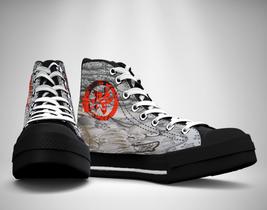 Samurai Ronin Spirit japanese  Canvas Sneakers Shoes - $49.99