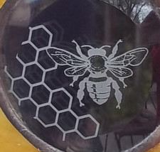 Stained Glass Window Panel  - Sweet Summer Bees - $57.00