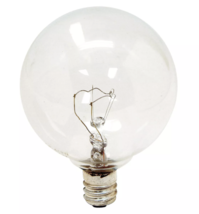 General Electric 60W 4pk G16 Incandescent Light Bulb Crystal Clear NEW image 2