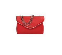 H79 Nine West Red Faux Leather Dayne Chain Strap Shoulder Bag - $62.29