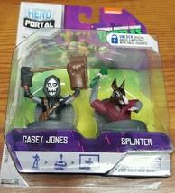 Jakks Pacific Hero Port 2 pack TMNT Casey Jones and Splinter New - $6.43