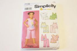 SIMPLICITY PATTERN 7139 - Toddler s Tops and Shorts and Pants - Sizes 1/... - $9.00
