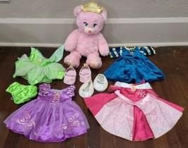Build A Bear Disney Princess Pink Sparkle Bear Plush with Outfits Light ... - $48.37