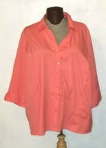 Maggie Barnes Women's 3/4 Sleeve Button Down Shirt Plus Size 3x 26/28 - $17.99