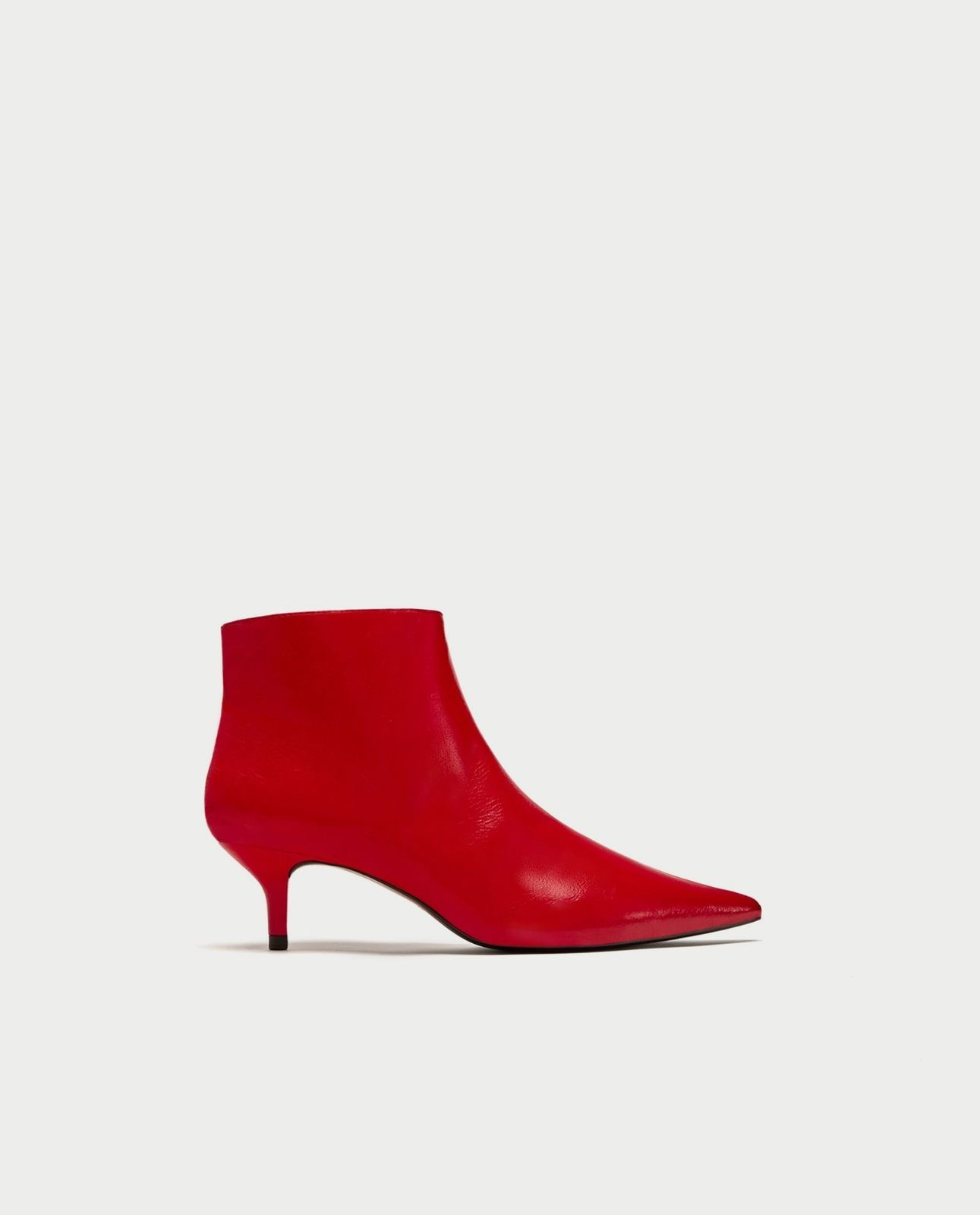 8155b5fe1bb BNWT ZARA Red Mid Heel Ankle Boots s.6.5 and and 50 similar items