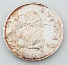 Alaska Casa de Moneda 2002 Oro Paner Miner Medallón 1 OZ .999 Plateado R... - $80.22