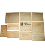 10 1901 MASSACHUSETTS Billhead Document Receipts Wool Mills Window Glass... - $26.99