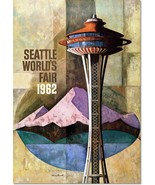Seattle Washington World's Fair 1962 Vintage Poster Reproduction - $32.99+
