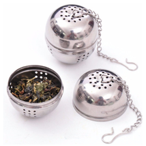 Tea ball Loose Tea Leaf Strainer Herbal Spice Infuser Filter Diffuse fine mesh - $3.75