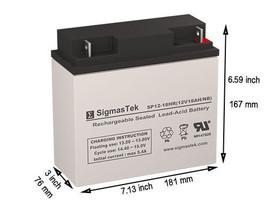 12 Volt 18 AH APC RBC11 Replacement battery by SigmasTek - $42.56