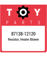 87138-12120 Toyota Ac Resistor, New Genuine OEM Part - $23.65