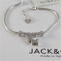 925 RHODIUM SILVER JACK&CO BRACELET WITH JACK RUSSEL TERRIER DOG  MADE IN ITALY image 2